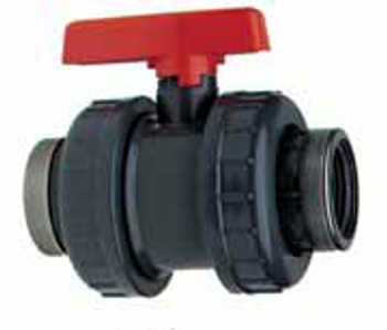 PVC Double Union Threaded Valve
