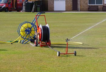 Cricket Square Watering System Hose reel Irrigator