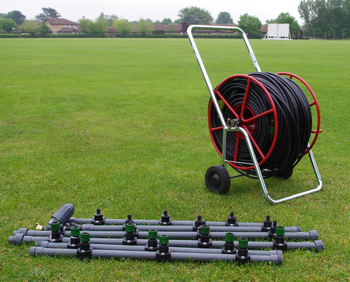 Drip Watering System for one Wicket of a Cricket Square