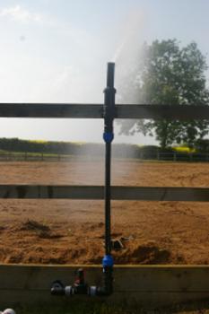 Outdoor riding arena irrigation