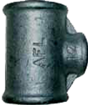Black Iron Steel Reducing Tee