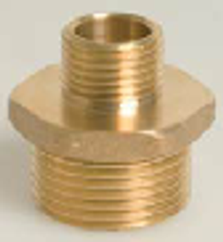 Brass Threaded Reducing Nipple