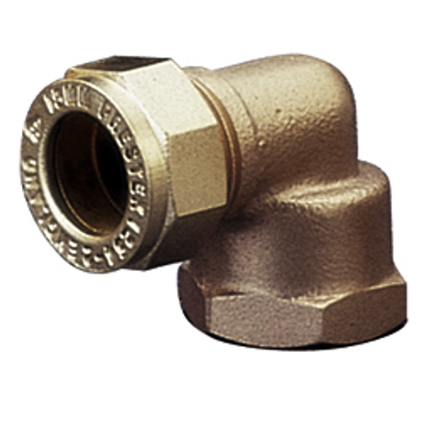 Brass Compression Copper x Female Threaded Elbow