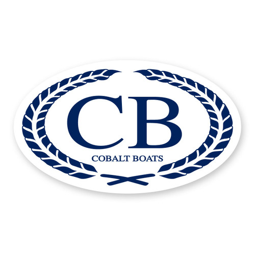 Cobalt Oval Decal