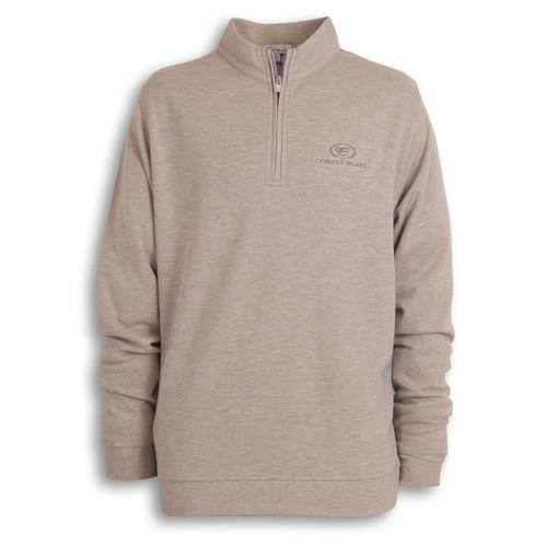 A372 Heather Quarter Zip Sweater