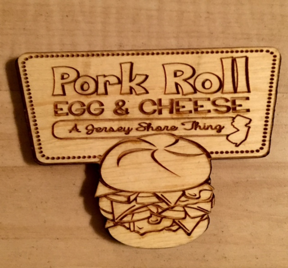 """Pork Roll Egg And Cheese 3"""" x 2"""" Magnet"""