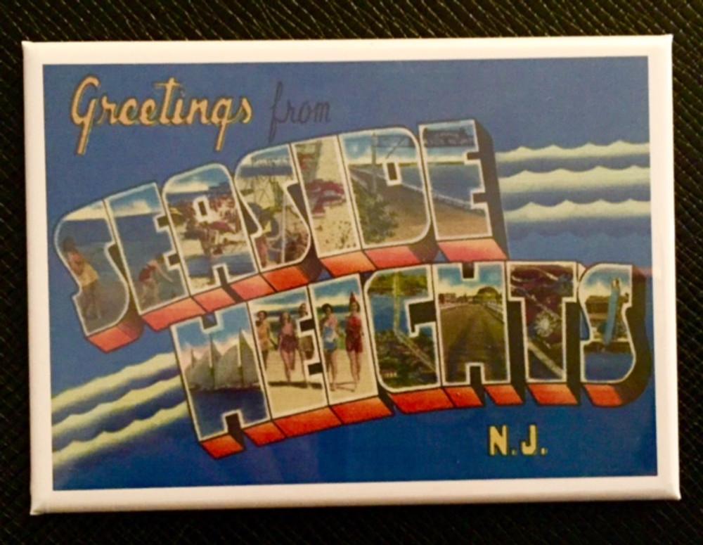 Greetings Seaside Heights Fridge Magnet
