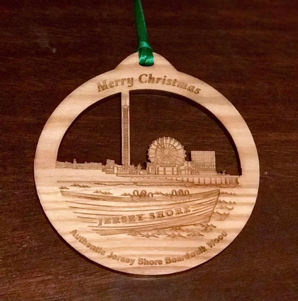Jersey Shore Boardwalk Pier & Boat Ornament