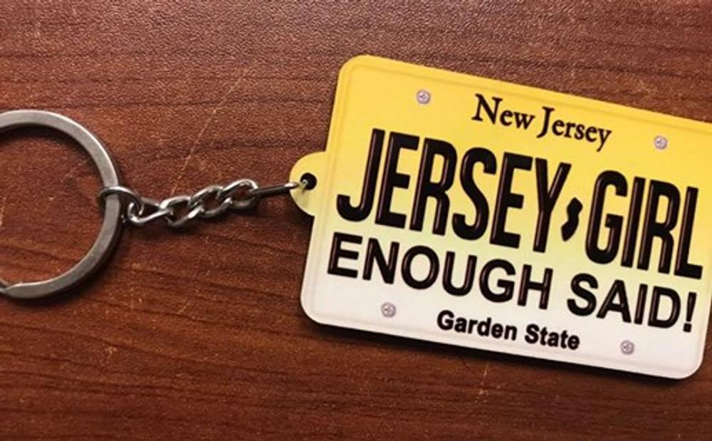 Jersey Girl Enough Said Keychain