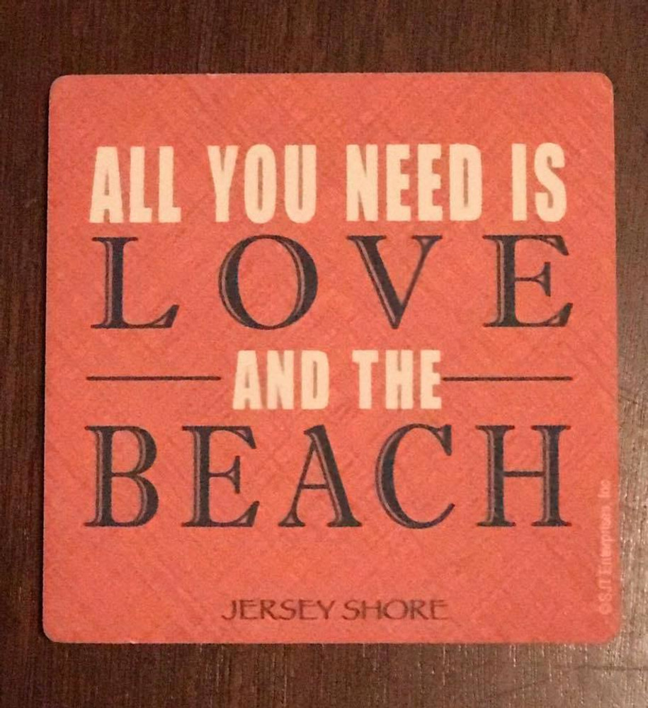 All you need is love and the beach stone coaster