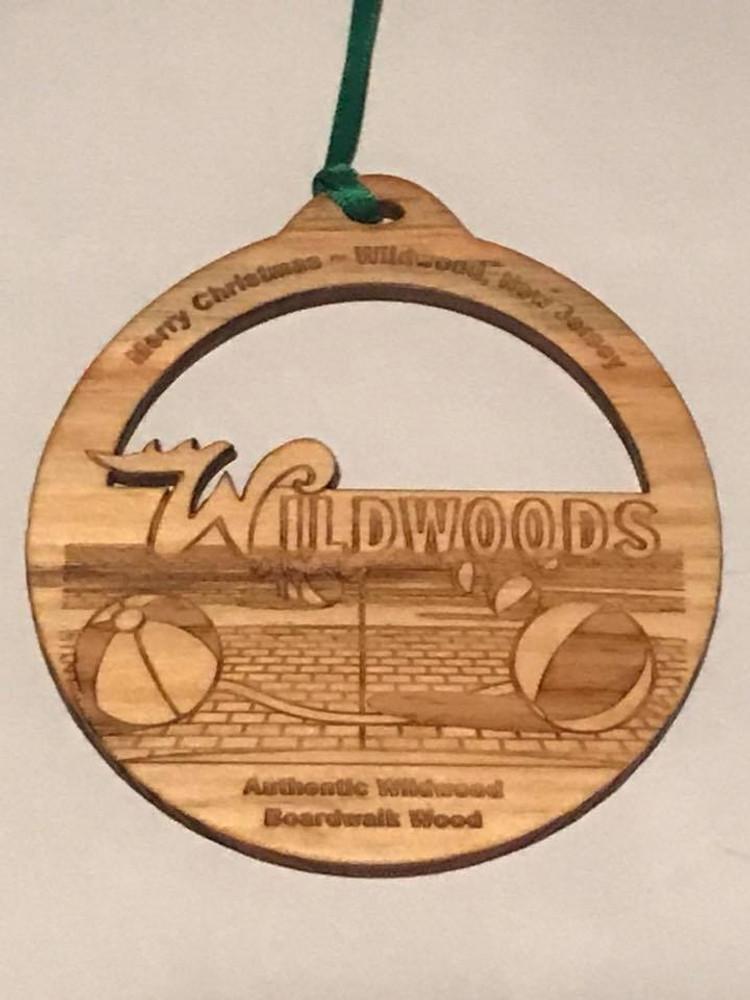 Authentic Wildwood Boardwalk Wood Ornament