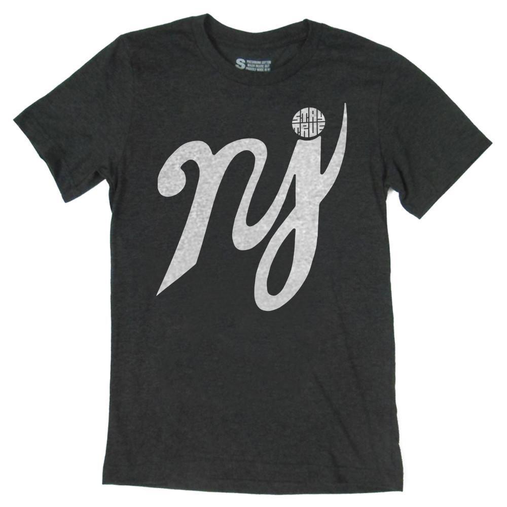 NJ Charcoal Scripture T-Shirt