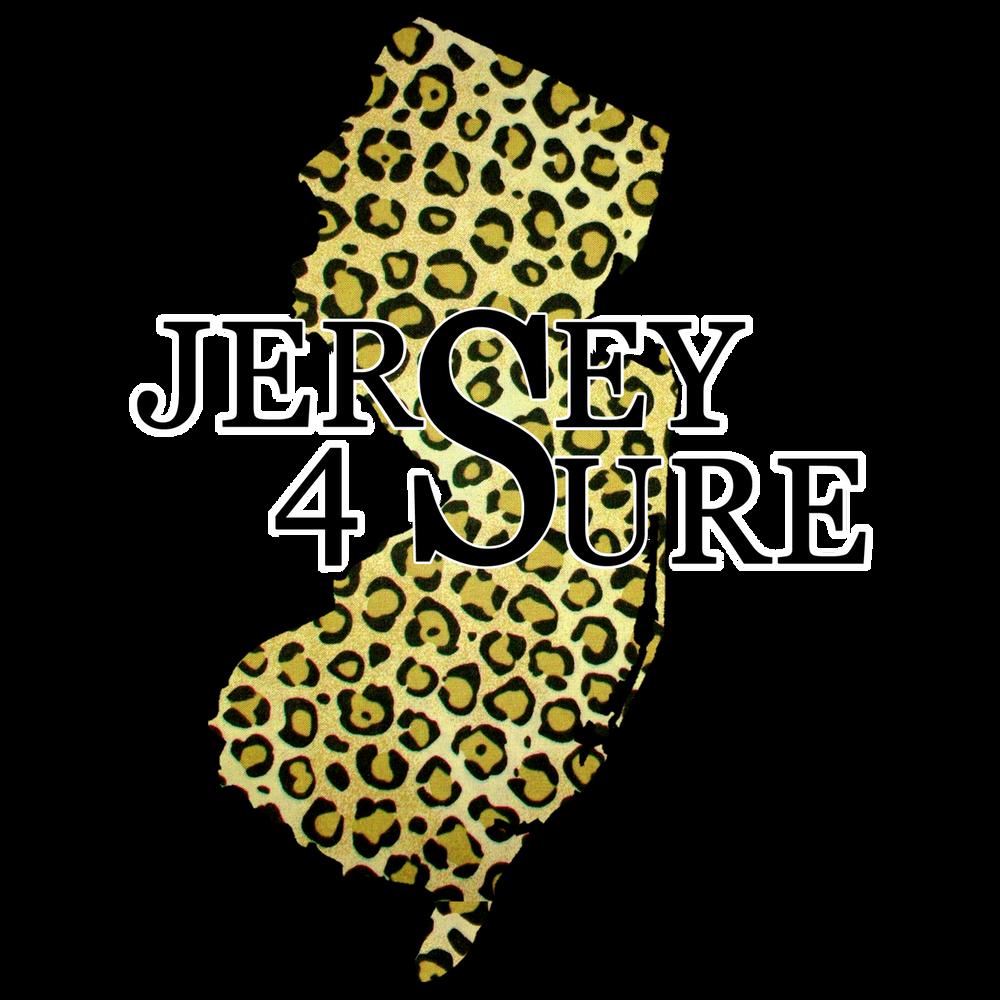Jersey 4 Sure Leopard - Black Logo Car Sticker