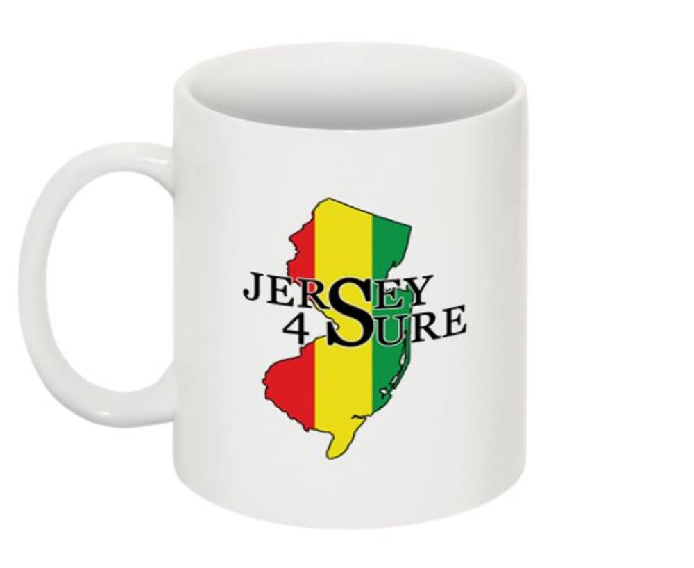 """Jersey 4 Sure """"Rasta"""" Mug NJ"""