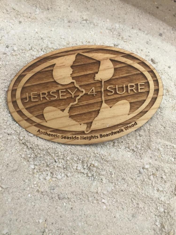 Jersey4Sure Batman Authentic Boardwalk Wood Magnet