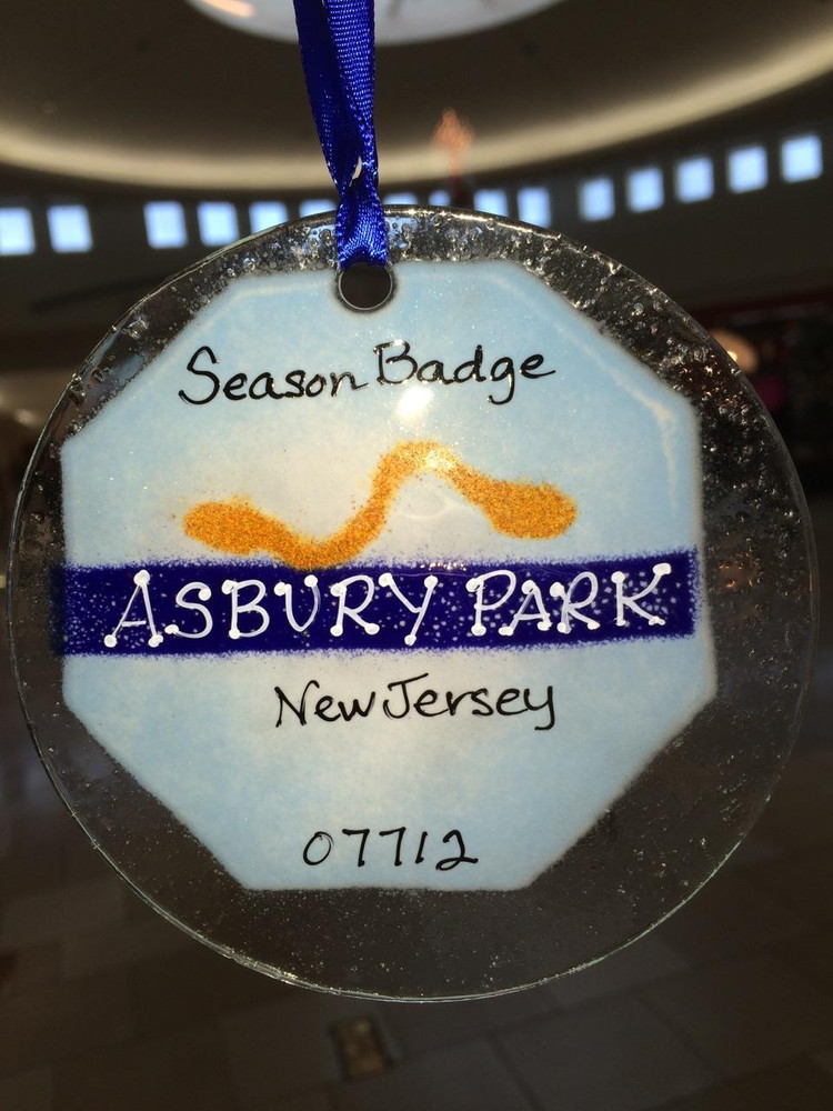Asbury Park Badge Handmade Ornament/Sun Catcher