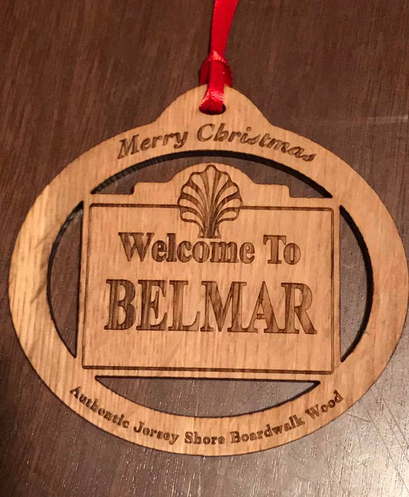 Welcome To Belmar Ornament