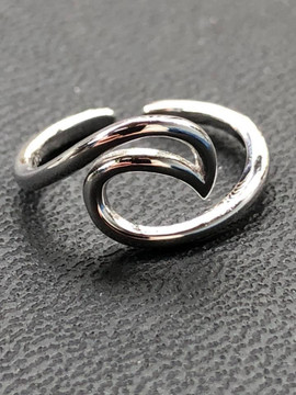 Sterling Silver Wave Toe Ring