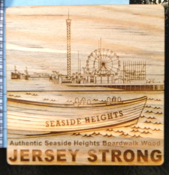 Seaside Heights Jersey Strong Square Boardwalk Magnet