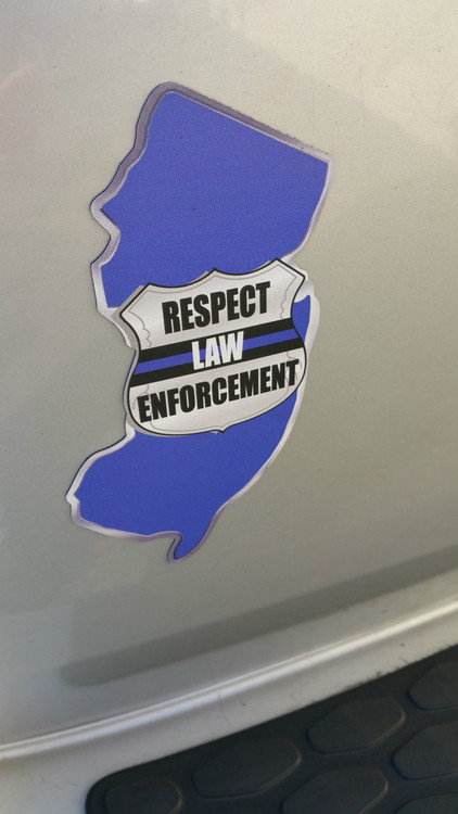 Respect Law Enforcement State Car Magnet