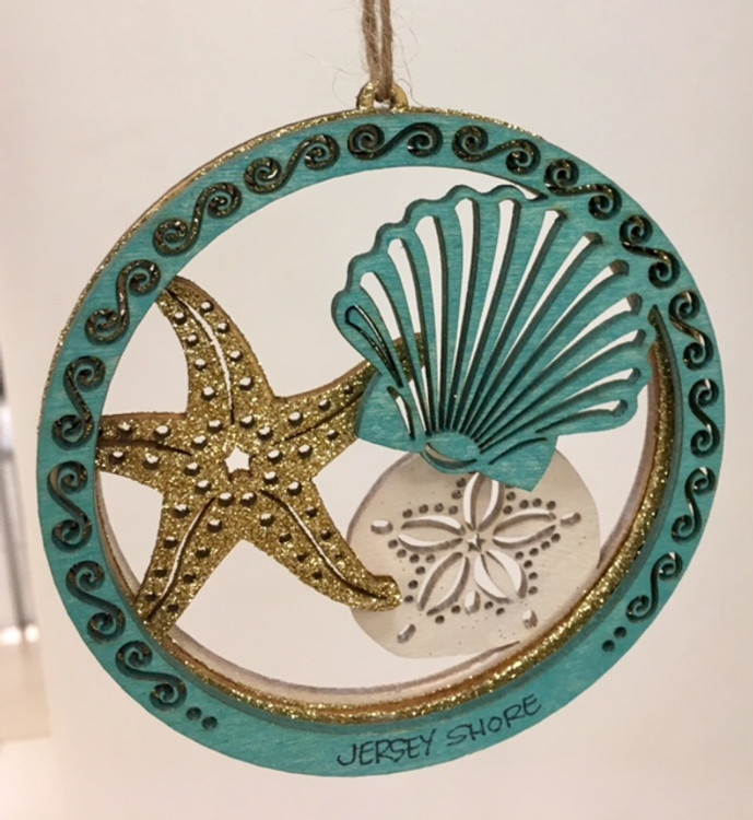 Seashell Starfish Sand Dollar Ornament