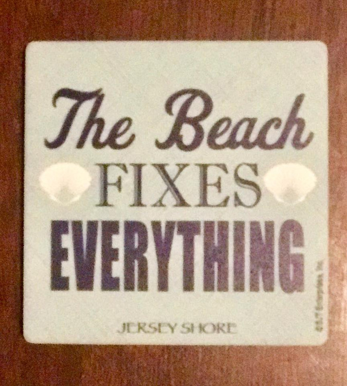 The Beach Fixes Everything Stone Coaster