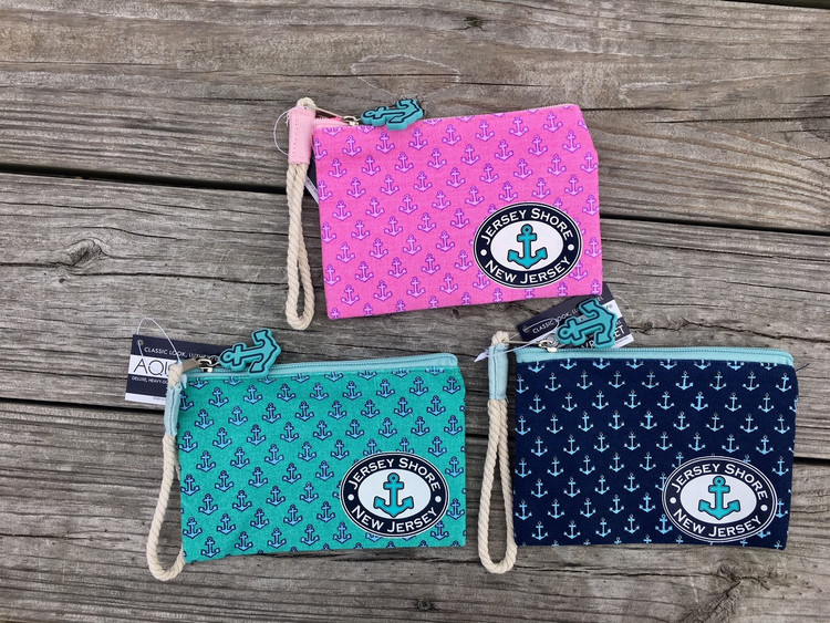 Medium Size Nautical Canvas Wristlet