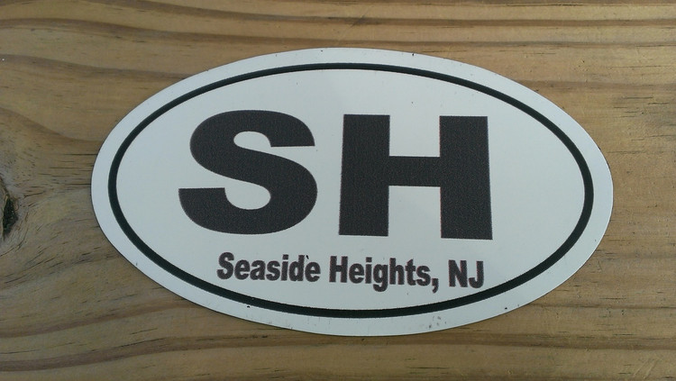 Seaside Heights Sticker Black