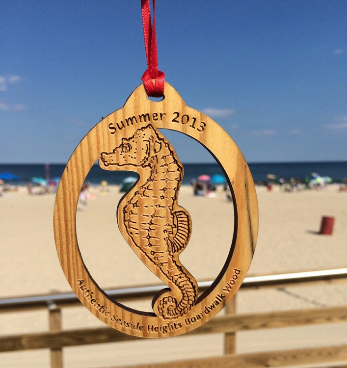 Summer 2013 Seaside Heights Sea Horse Ornament 4""