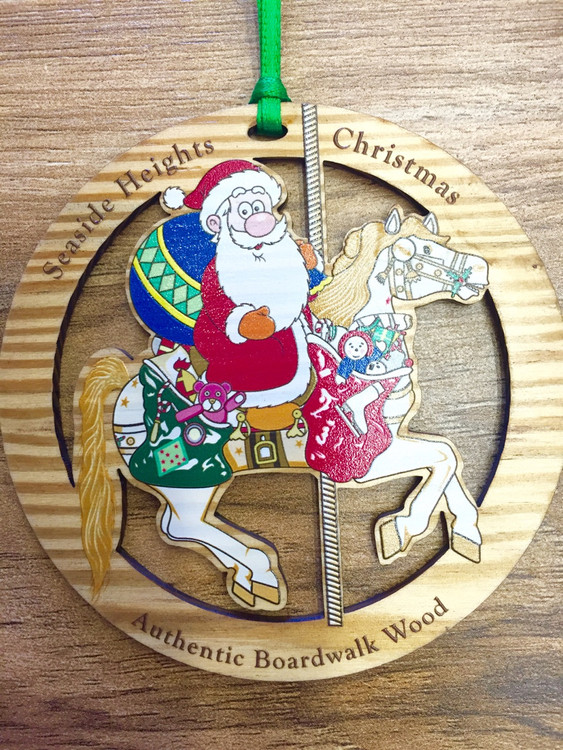 Seaside Heights Santa Christmas Ornament