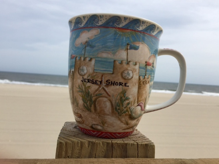 Jersey Shore Sandcastle Big Mug