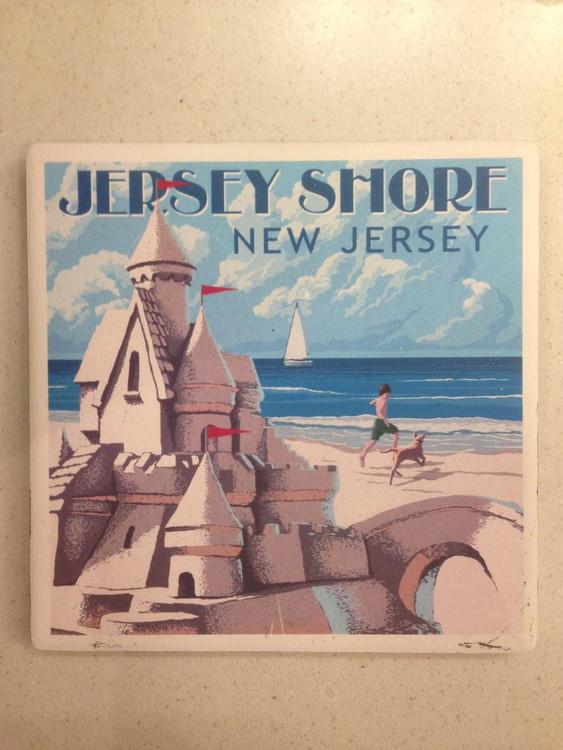 Jersey Shore NJ Stone Coaster