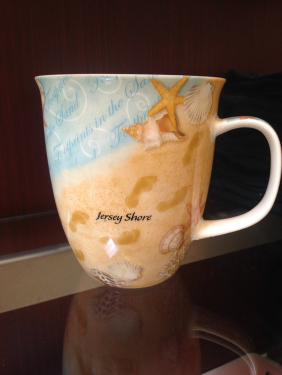 Jersey Shore Sand Beach Big Mug