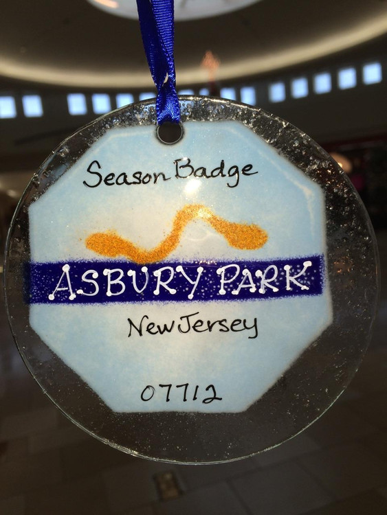 Asbury Park Badge Handmade Ornament/Sun Catcher