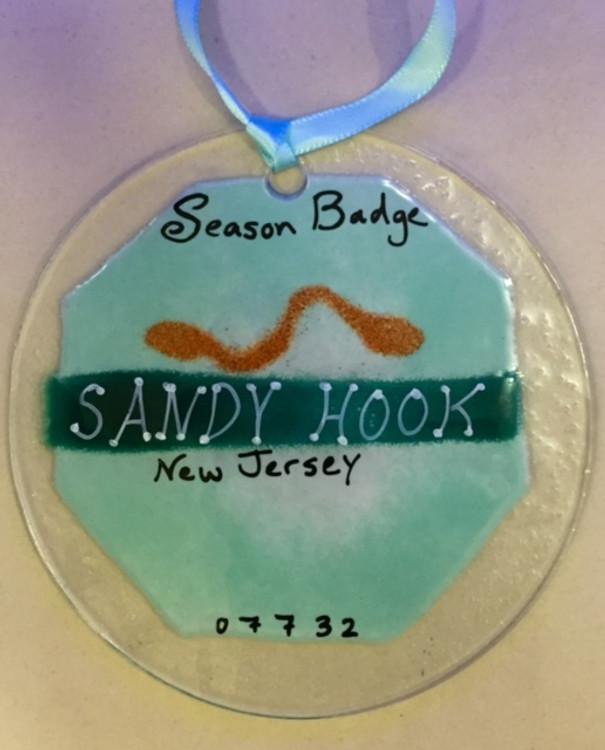 Sandy Hook Badge Handmade Ornament/Sun Catcher