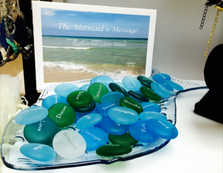 Sea Glass Mermaid's Message Stones