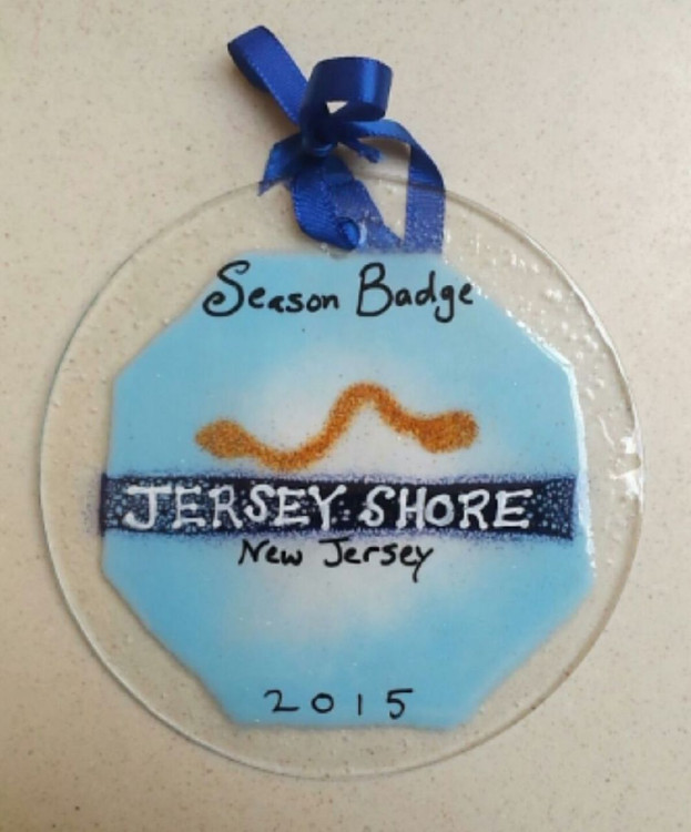 Jersey Shore Badge Handmade Ornament/Sun Catcher