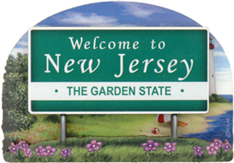 Welcome To NJ Welcome Sign -  Fridge Magnet