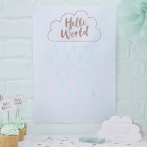 Hello World Fingerprint Canvas Guest Book