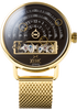Halograph Automatic Mesh Black/Gold (HLG-3019M) front