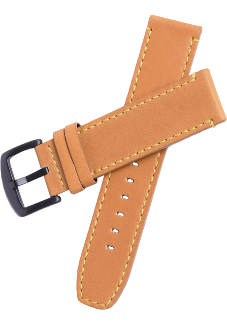 Xeric 22mm Tan Leather Strap with Black Buckle (XS3025-STRAP)
