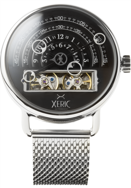 Halograph Automatic Mesh Black/Silver (HLG-3014M) front