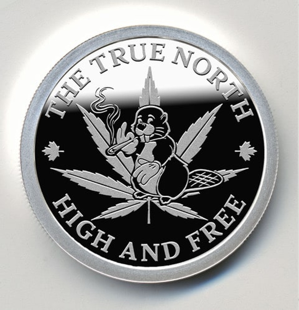 TOKING BEAVER – THE TRUE NORTH HIGH AND FREE – 1 oz Pure Silver Proof Round – Beaver Bullion