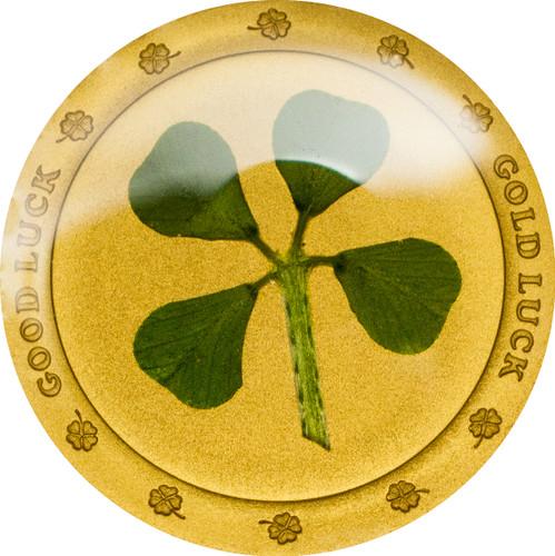 2017 Four Leaf Clover (Good Luck - Gold Luck) $1 1g gold .9999 proof (No date)