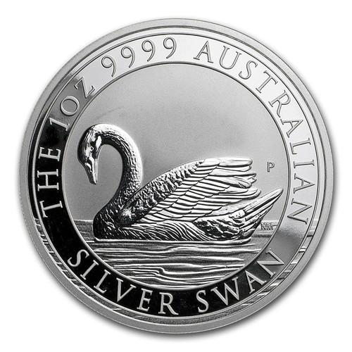 2017 SILVER SWAN 1 oz .9999 Silver Coin BU Capsule $1 Australia