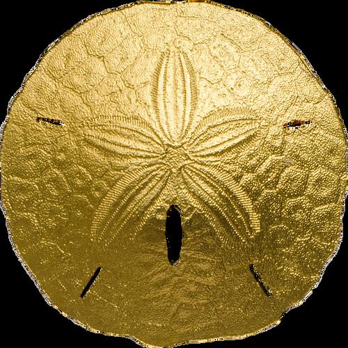 2017 SAND DOLLAR - 1 gram 24K Gold Coin COA Palau $1
