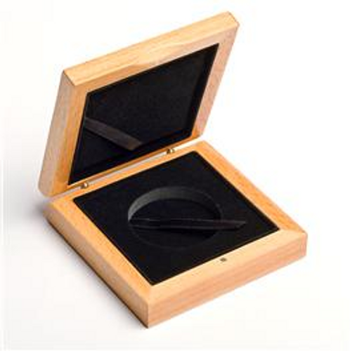 Wooden Display Box, 45mm capsuled coins