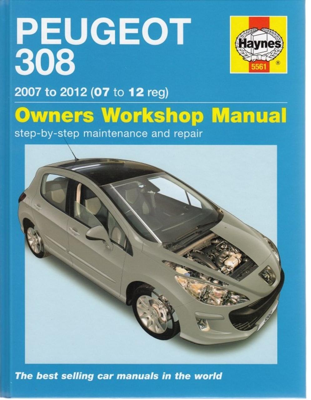 peugeot 308 2007 2012 petrol diesel workshop manual rh automotobookshop com au Peugeot 408 Manual Peugeot 407 Manual PDF