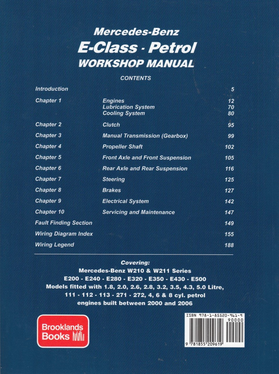 ... Mercedes-Benz E-Class W210 & W211 Series 2000 - 2006 Petrol Workshop  Manual ...