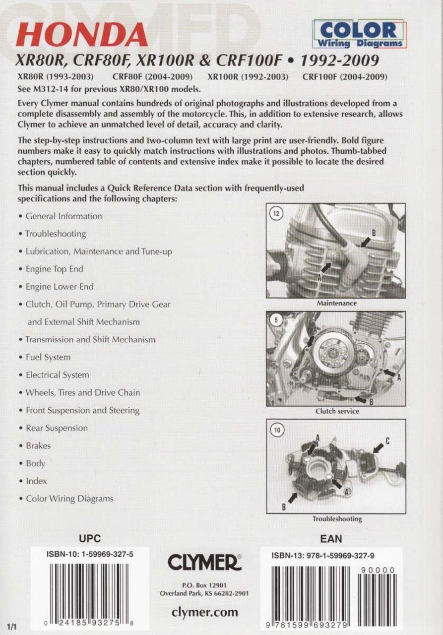 Honda Crf100f Wiring Diagram Electrical Diagrams 2009 Gl1800 Xr80r Crf80f Xr100r 1992 Workshop Manual